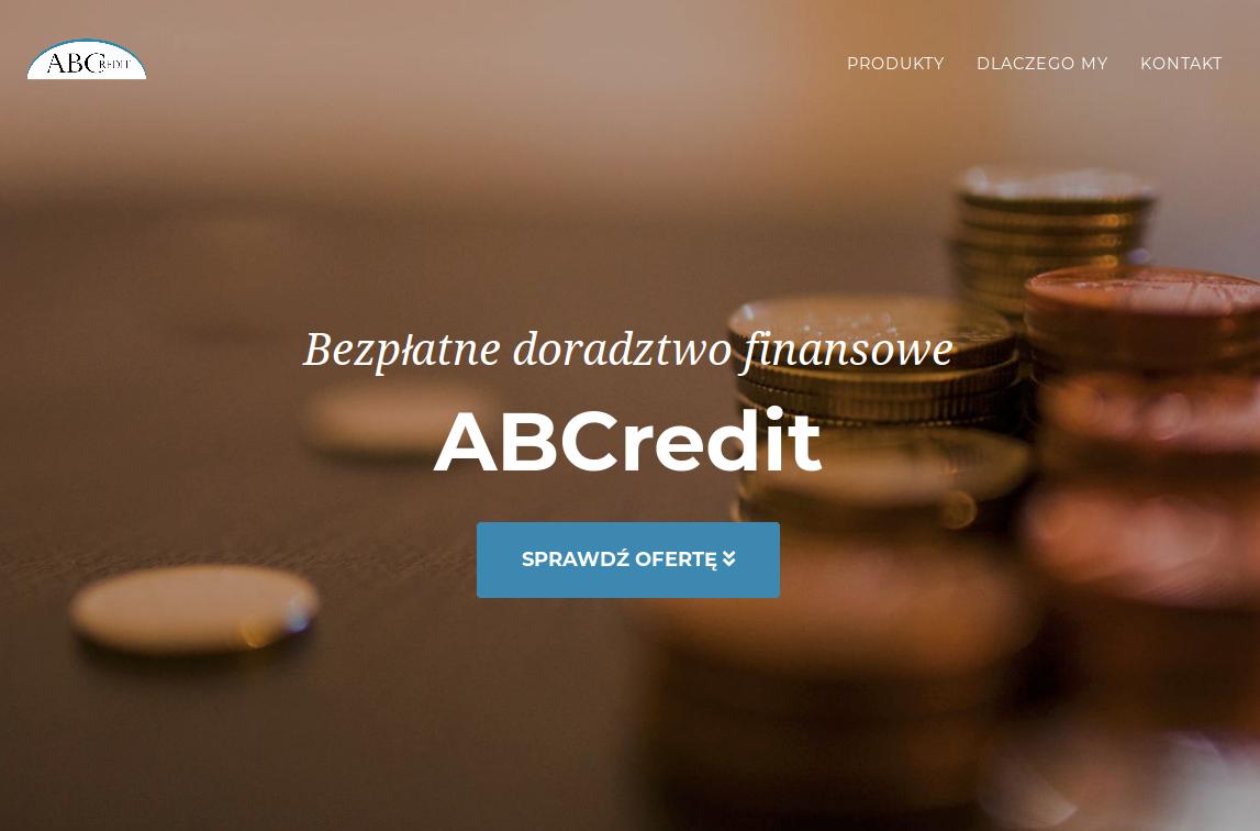 Witryna internetowa biura pośrednictwa kredytowego