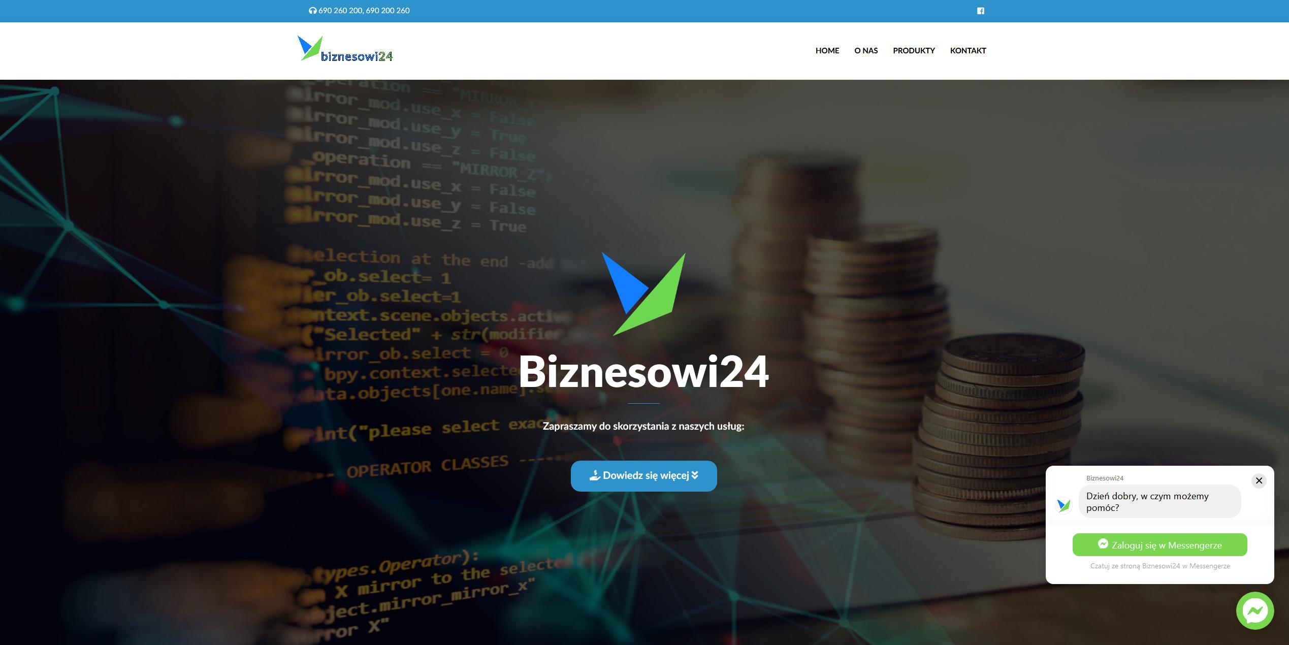 Witryna internetowa biura doradcy finansowego