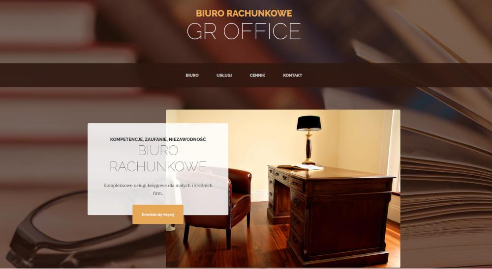 Witryna internetowa biura rachunkowego